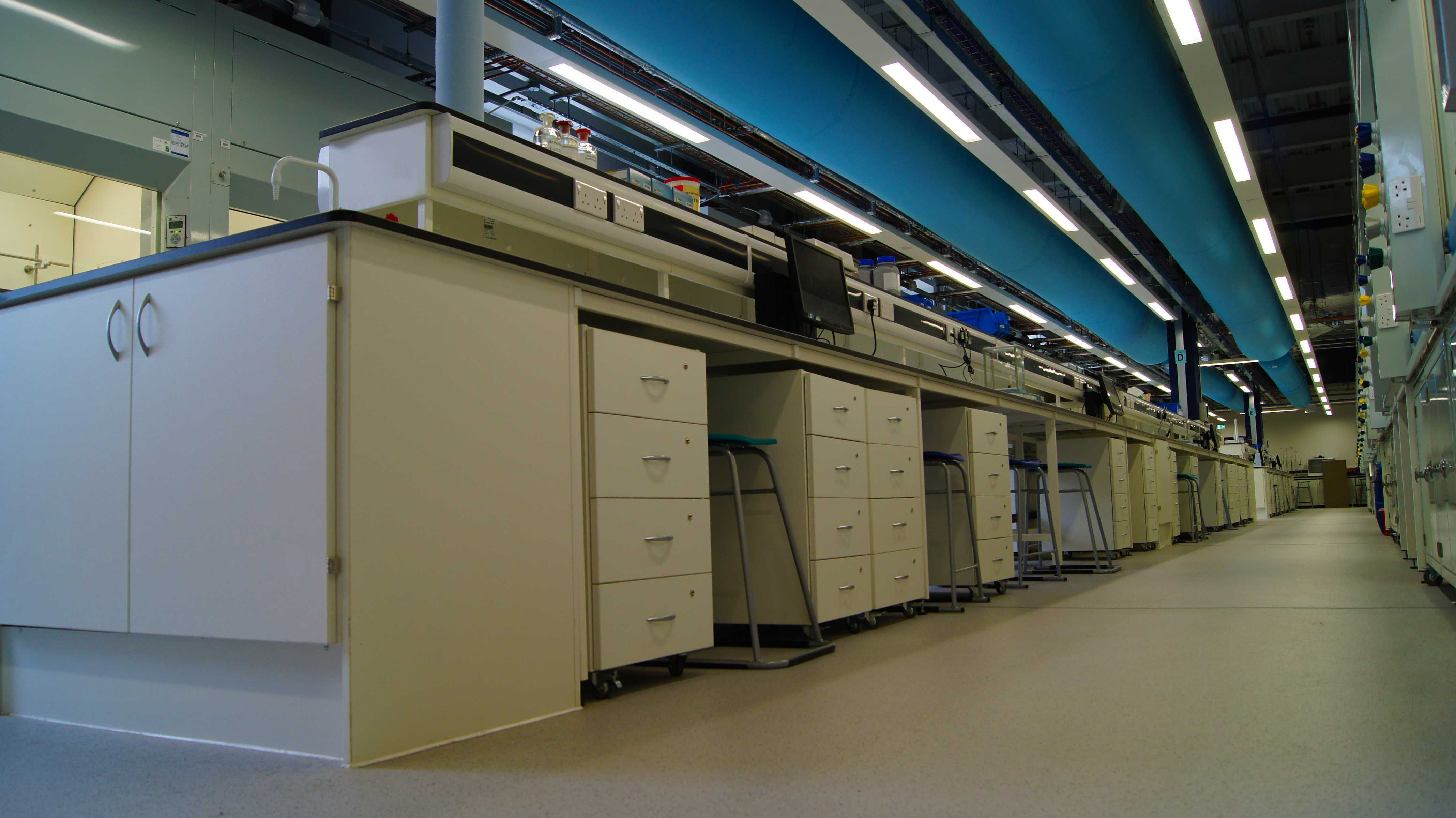 University Of York Chemistry Labs Fabric Duct Chemistry Labs