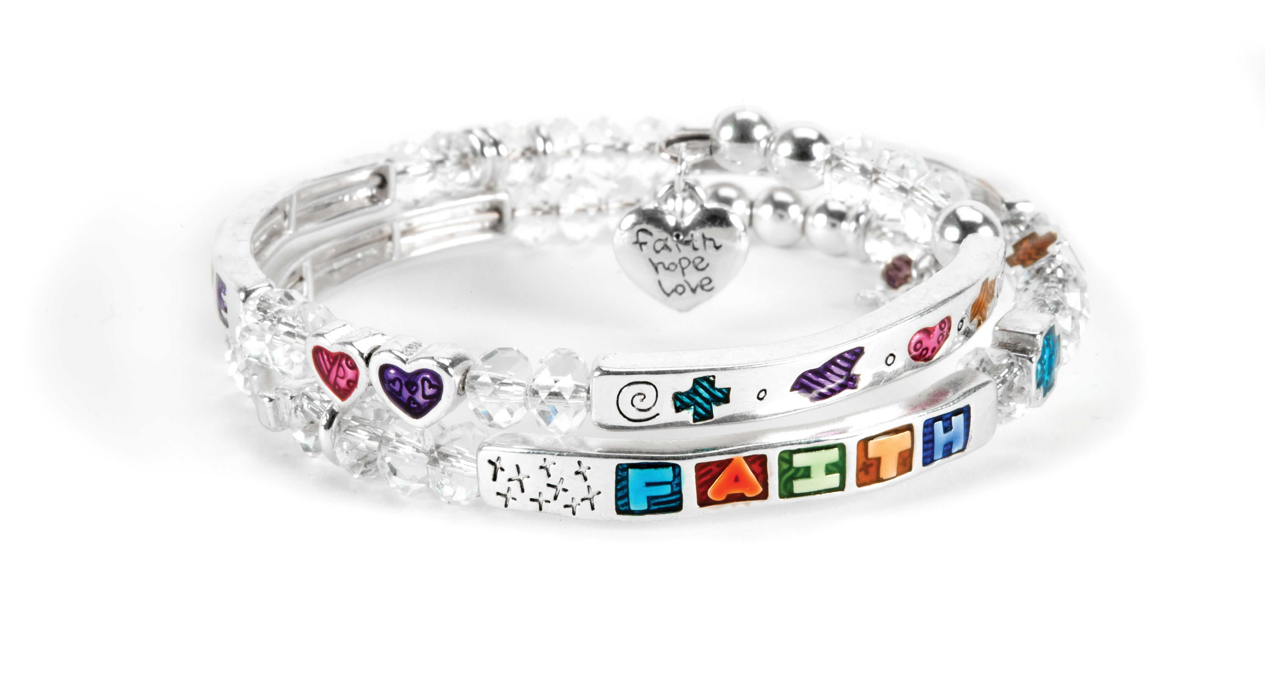 Just Jewelry is proudly offering the Faith, Hope, Love bracelet in support of the Plumpy'Nut® initiative. For each $18 bracelet sold, Just Jewelry donates the funds necessary to provide two Plumpy'Nut® treatments to a malnourished child.