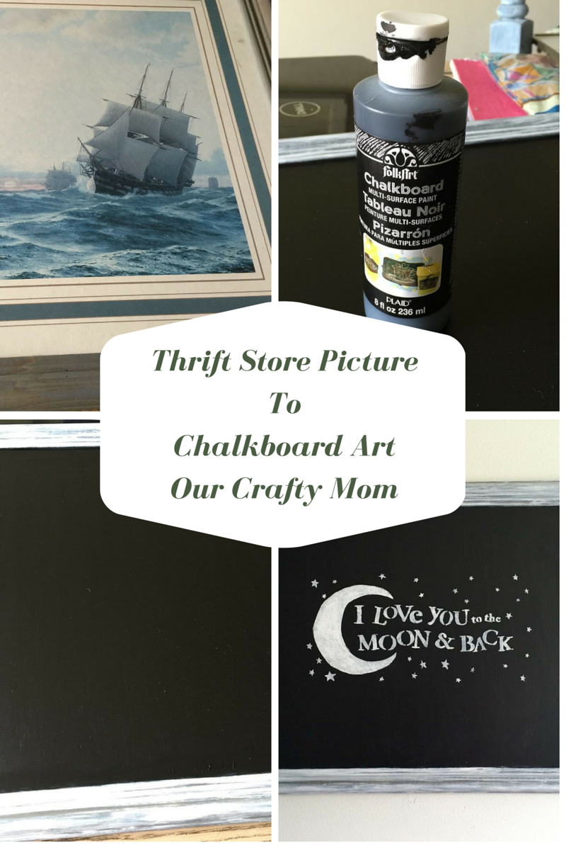 Thrift store picture to chalkboard art thrift chalkboards and store