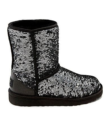 UGG Australia Girls Classic Sparkle Sequin Boots #Dillards