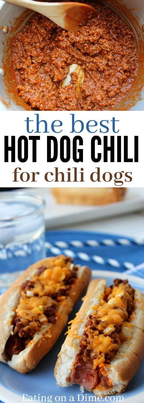 The Best Hot Dog Chili #chilirecipe