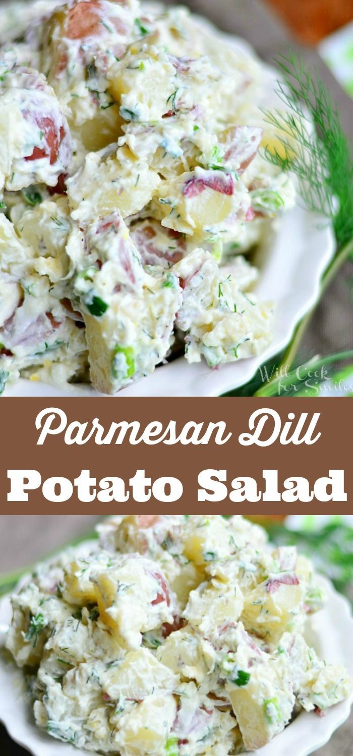 Parmesan Dill Potato Salad Creamy Potato Salad Recipe Made With Red Potatoes Shaved Par Potatoe Salad Recipe Homemade Potato Salads Best Potato Salad Recipe