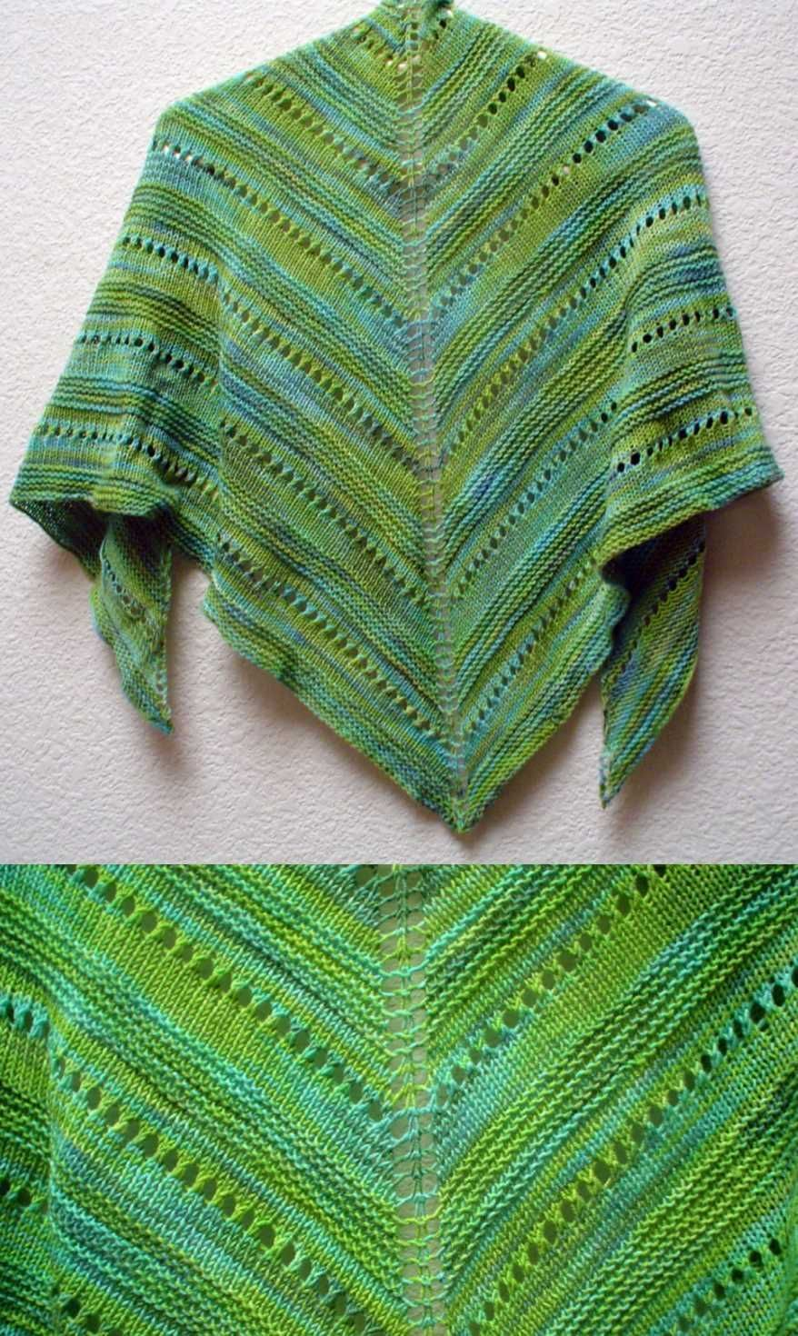 Free Lace Knitting Patterns for Beginners Easy Shawl. | otulacze ...