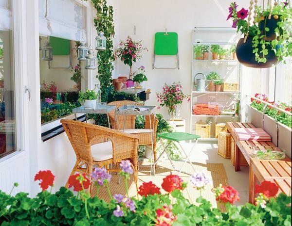 Green Red Small Balcony Design Apartment Balcony Garden Indoor Window Garden