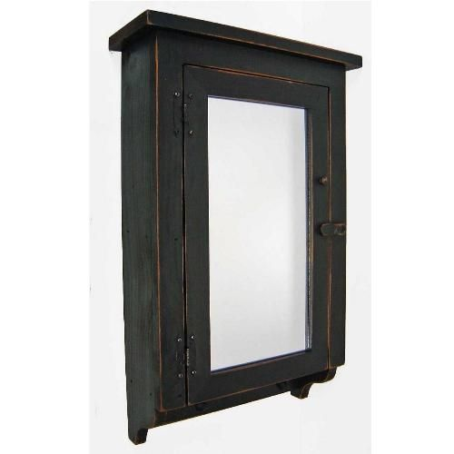 watch e09f7 9d6b0 Country Distressed Rustic Medicine Cabinet Mirrored Door ...