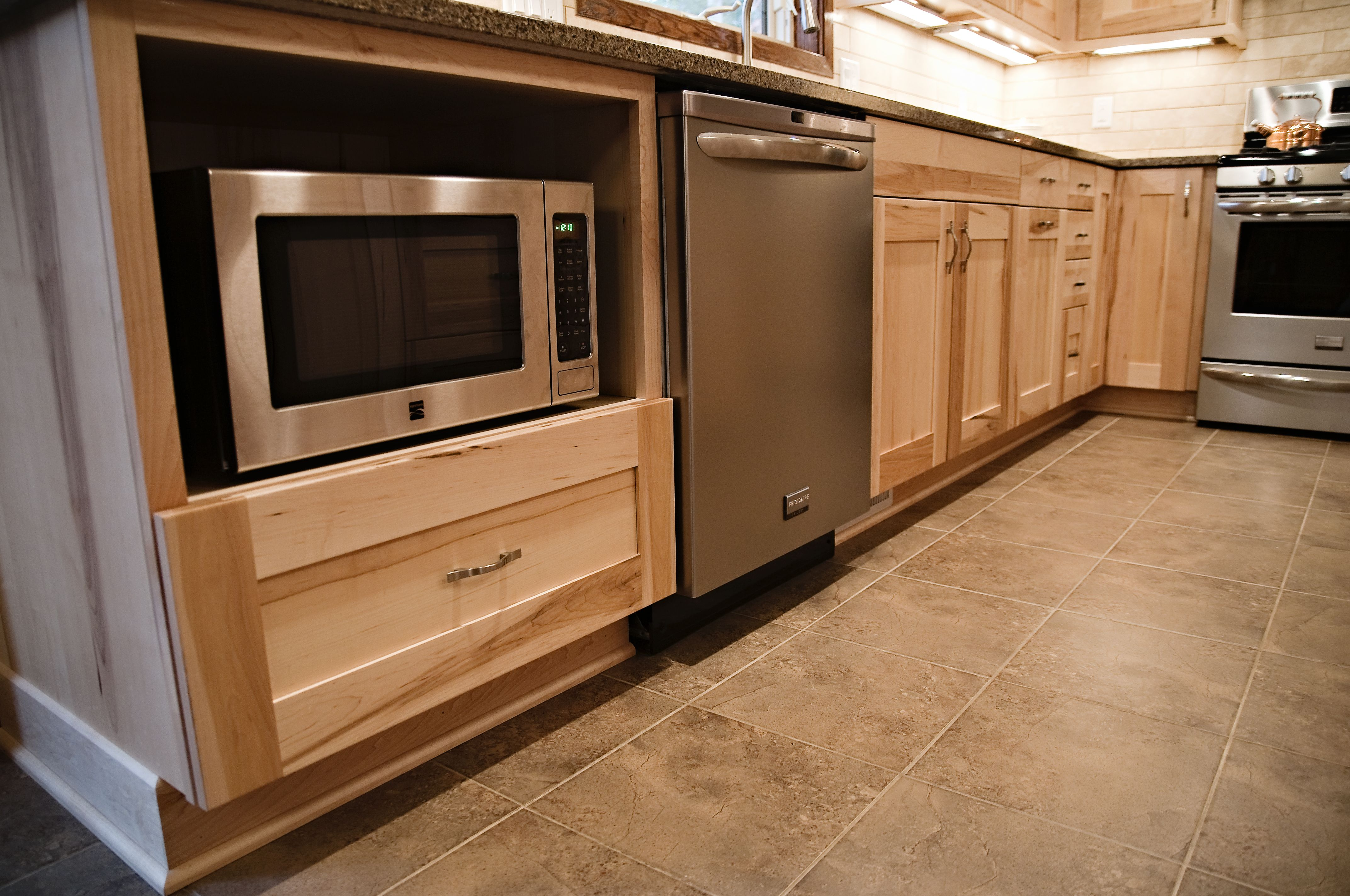 Microwave in Base Cabinet  Kitchens Design By Cella in