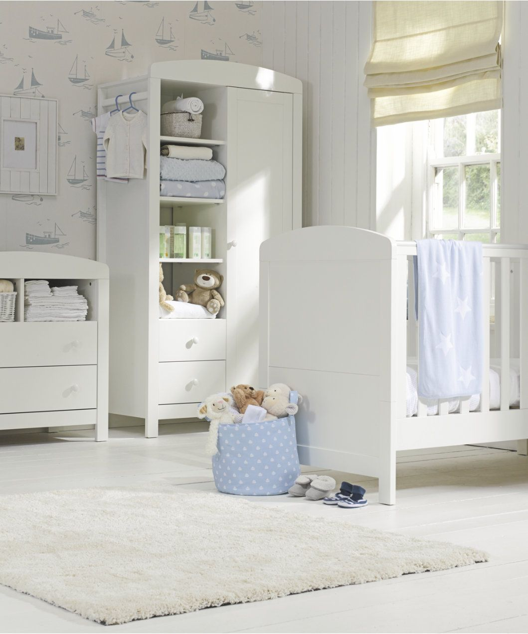 Mothercare Padstow Changing Unit- Porcelain White - dressers
