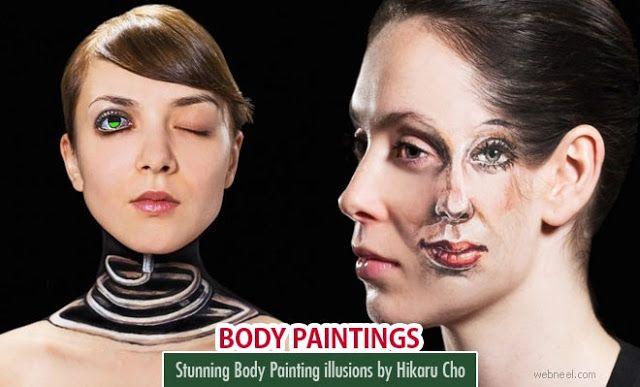 Impresionantes Ilusiones pictóricas sobre la piel de la artista  Hikaru Cho