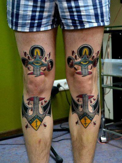 Tatuajes Rodilla Revista Entintado Tatuajes Pinterest