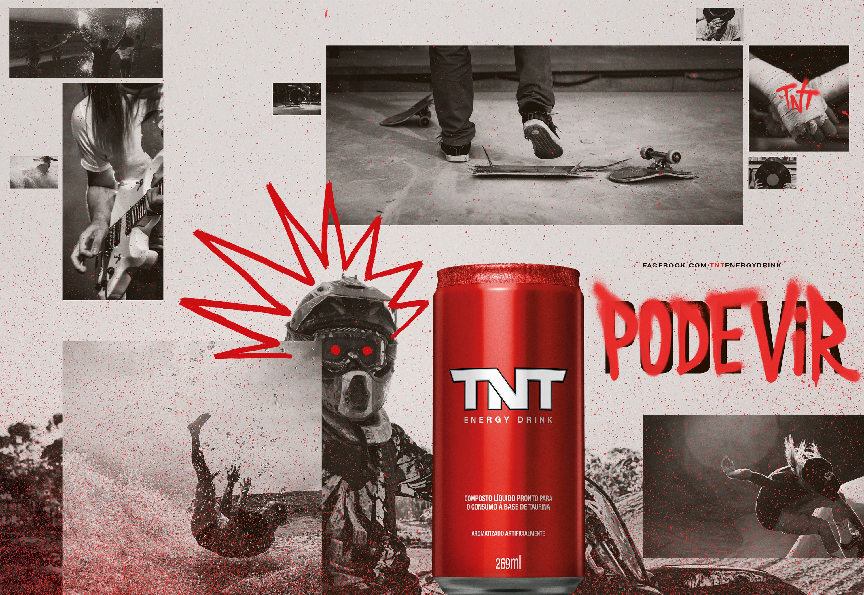 Campaign To Launch The New Tnt Energy Drink Concept Bring It On In 2020 Energy Drinks Energy Drinks