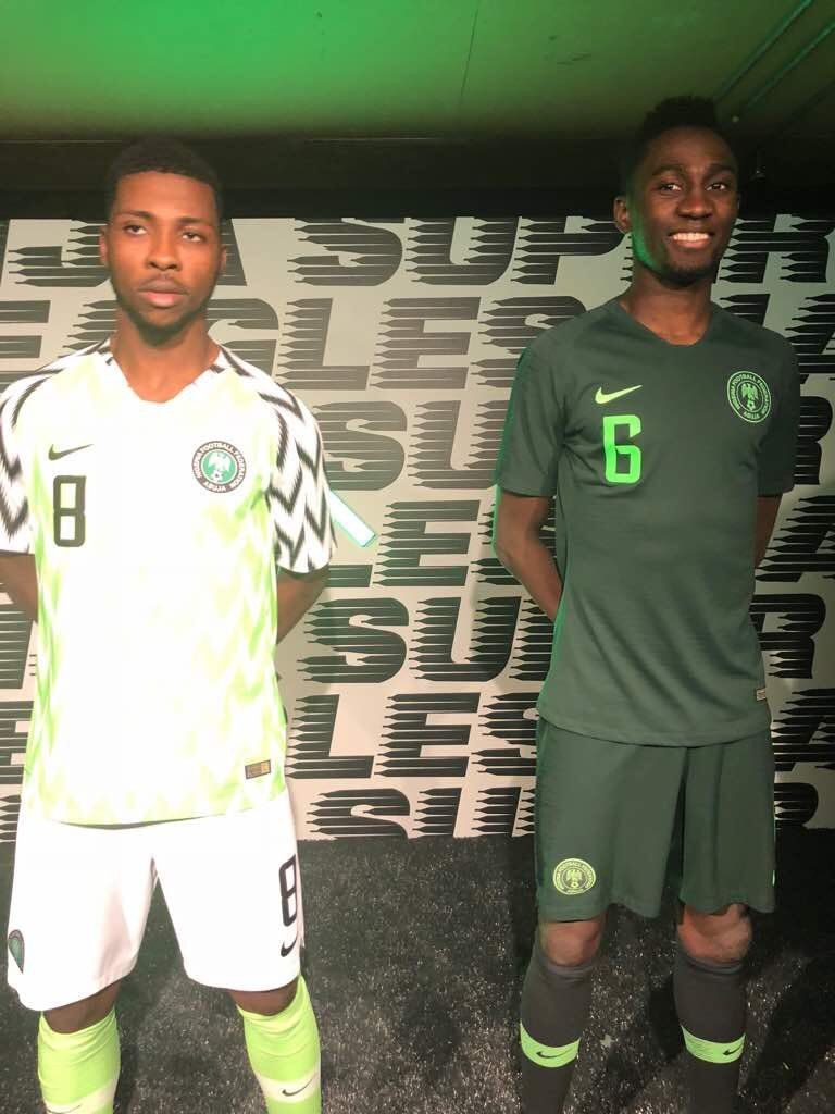 Watch How Mikel Iwobi Iheanacho Ndidi Reacted To The New Super Eagles Kits Video Last Night The Nigeria Football World Cup Shirts Nigeria New Chelsea Star