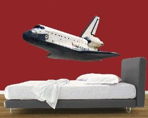 Space Shuttle in Flight Wall Mural Imaginative Rooms for Boys