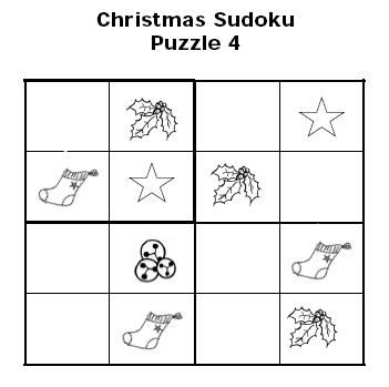 Christmas Sudoku Puzzles for Kids: Christmas Sudoku For Kids Puzzle ...