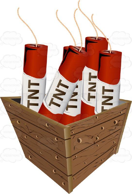 Red Sticks Of Tnt Dynamite In A Wooden Box | Kindergarten ...