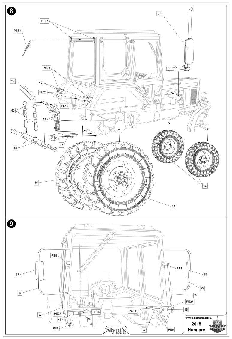 pin od k kozlowski na traktor