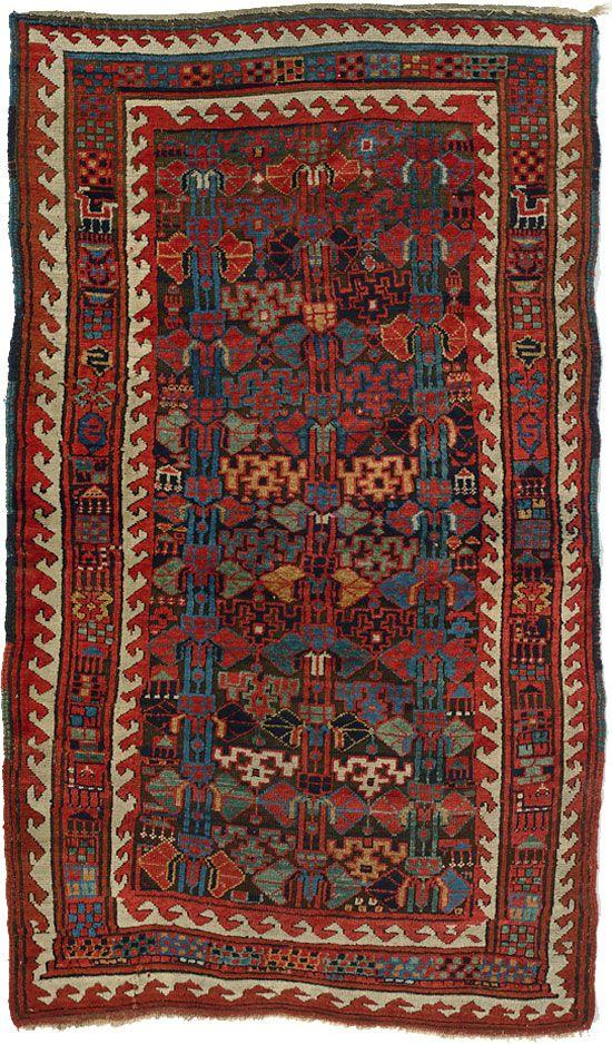 Antique Kurdish Rug C1900 2 08m X 1 22m