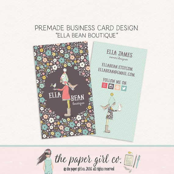 Business card design knitting business card little girl character business card design knitting business card by thepapergirlco colourmoves