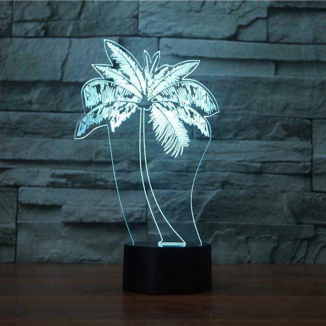 Palm Tree 3d Illusion Lamp 3d Illusion Lamp 3d Illusions Illusions