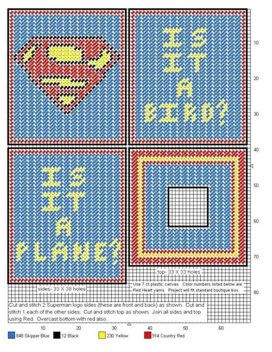 Superman tbc | plastic canvas | Pinterest