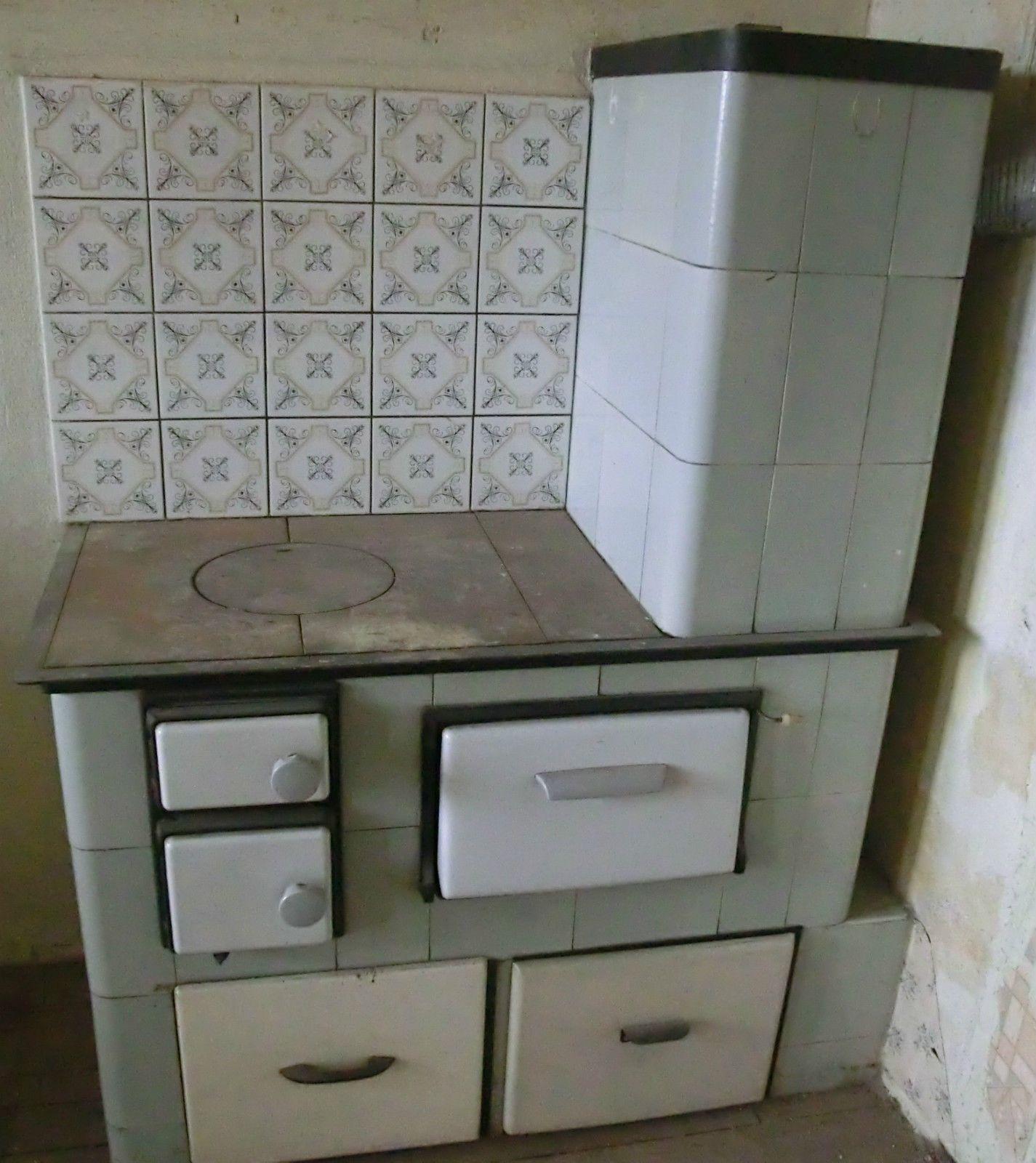 Küchenherd Kachelofen abgebaut Kochmaschine Küchenhexe Kachelherd ...