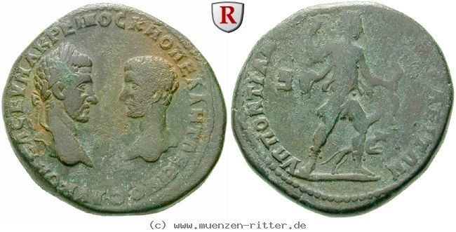 RITTER Moesia Inferior, Markianopolis, Macrinus, Diadumenianus, Artemis, Hund #coins