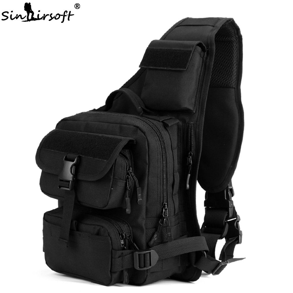 SINAIRSOFT Outdoor Sport Climbing Nylon Tactical Bag Single Shoulder Sling  Chest Camping Military Backpack Army Bags 07cb65ab7ced3