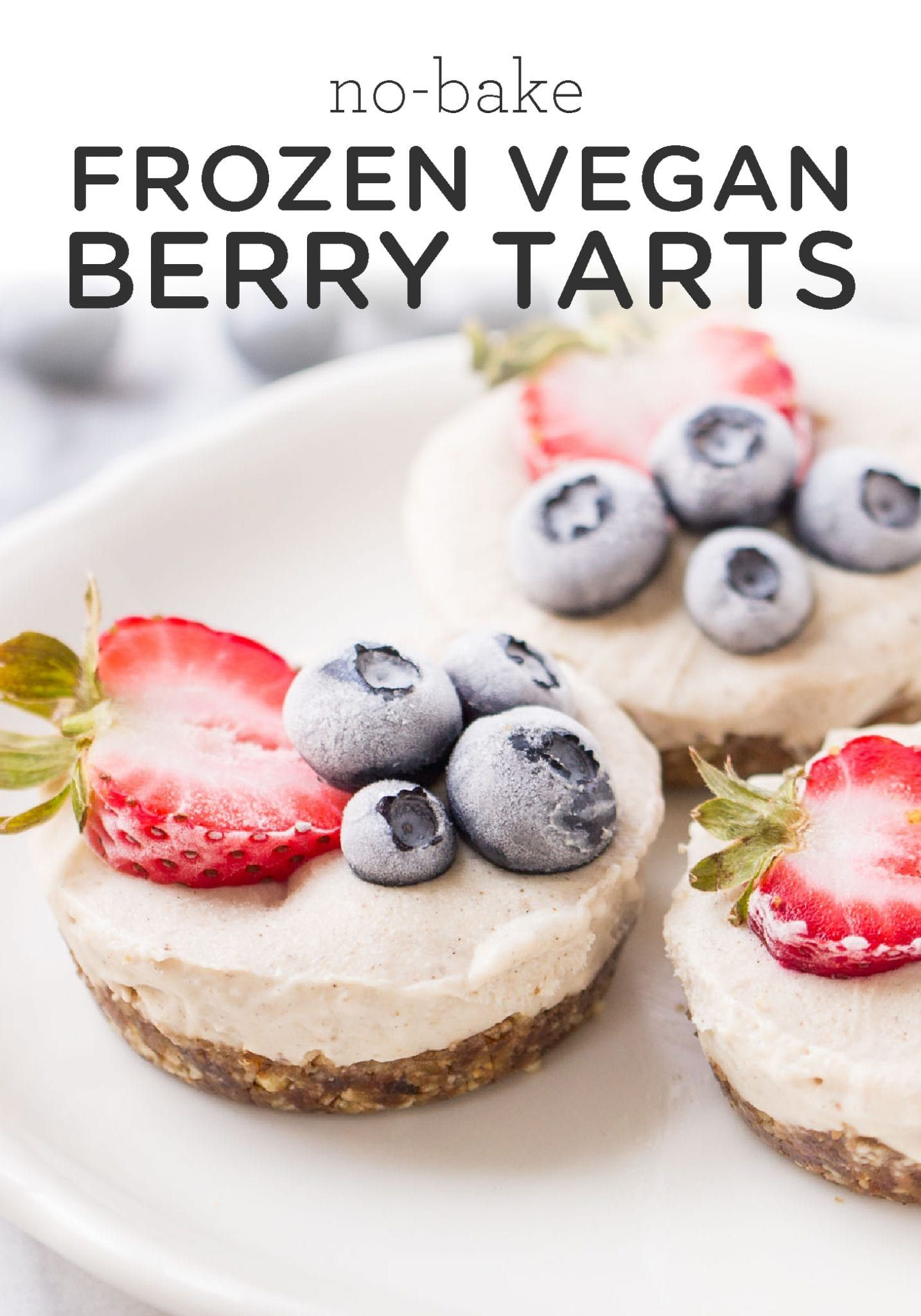 No Bake Frozen Berry Tarts