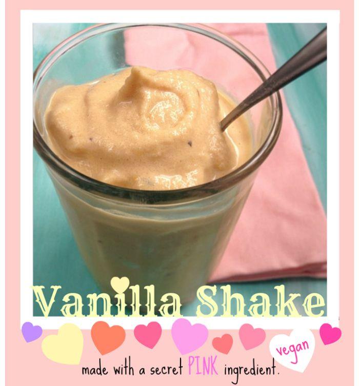 (Secret Ingredient) Vanilla Shake with watermelon, banana, vanilla non-dairy milk, and protein powder #bestsmoothie #vegasmoothie