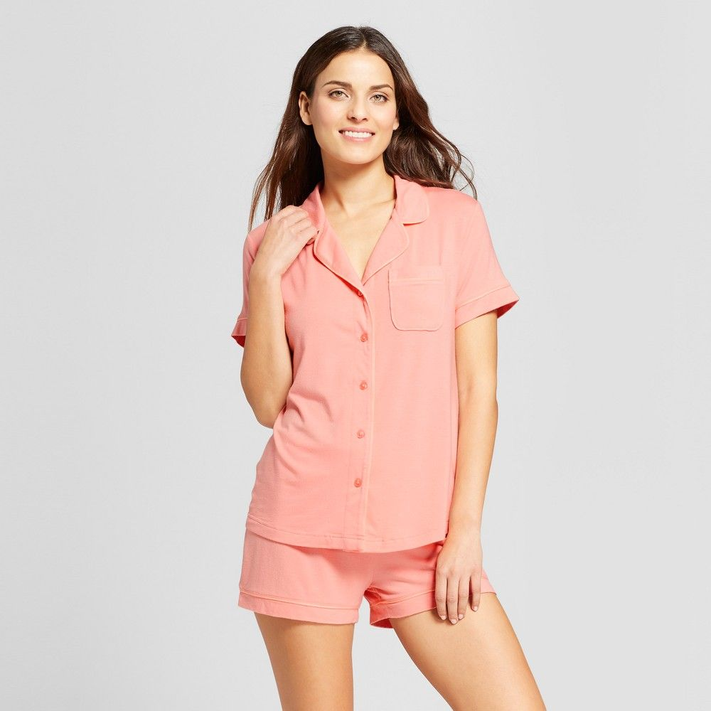31f6deed35 ... brand new fd580 2d95f Womens 2pc Pajama Set - Gilligan OMalley™ Pom Pom  Pink XXL ...
