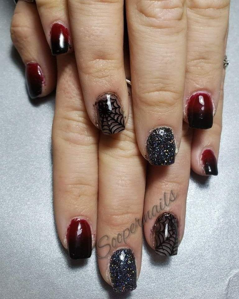 Halloween nails | Sns nails colors, Nails, Gradient nails