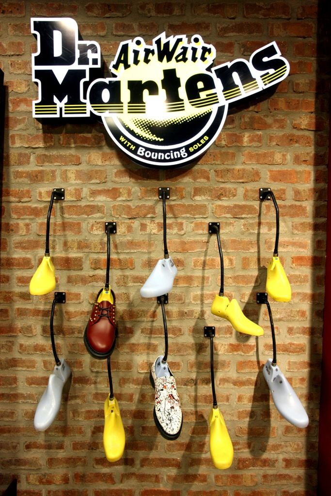 Doc martens · The display of these shoes is very off the wall, no pun  intended. It
