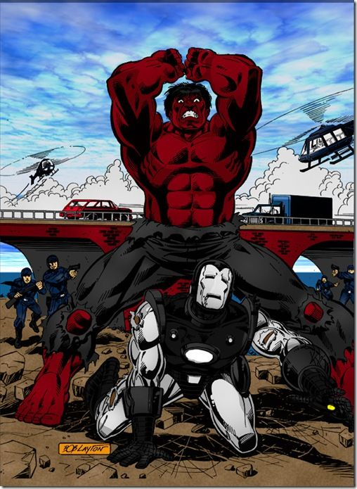 red hulk vs war machine cartoons pinterest hulk vs