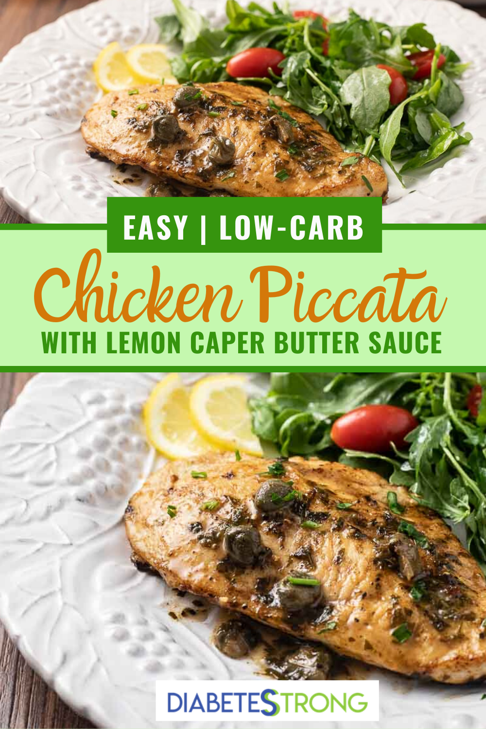 Lemon Chicken Piccata Easy Healthy Recipe In 2020 Lemon Chicken Piccata Vegetarian Recipes Healthy Easy Family Meals