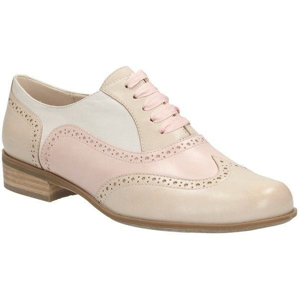 9315f0b60f Clarks Hamble Oak Leather Brogues, Dusty Pink featuring polyvore, fashion,  shoes, oxfords, flats, flat shoes, wingtip oxfords, leather shoes, pink  shoes and ...