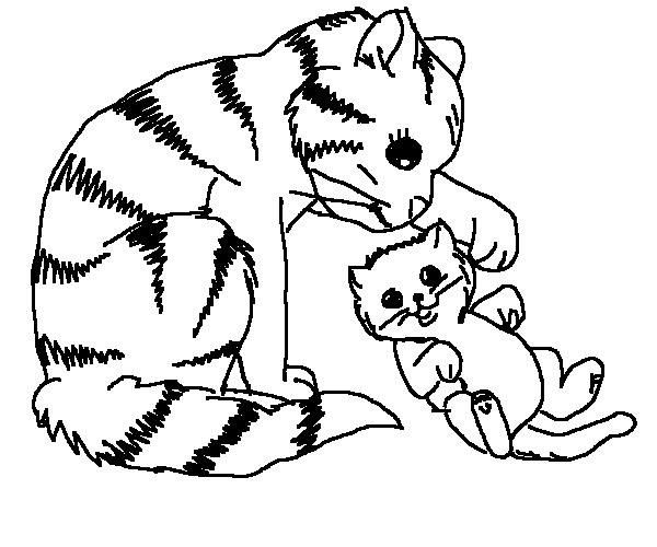 cat-and-dog-coloring-pages.jpg (600×500) | coloring 2 | Pinterest