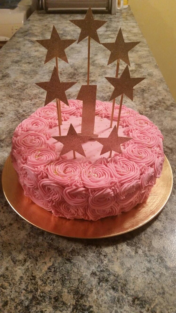 2016 Chocolate Cake With Rosette Buttercream Frosting Rosette Cake Cake Chocolate Cake