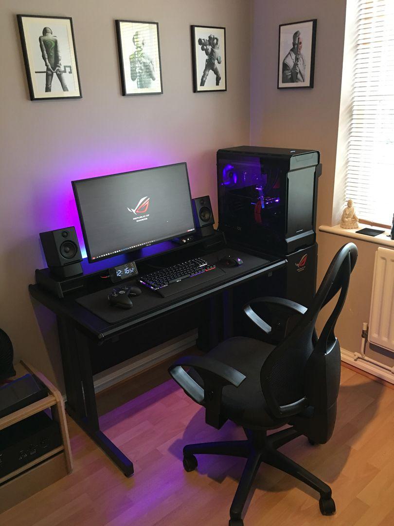 Updated Setup Compact Gaming Workspace Gaming Setup In 2019
