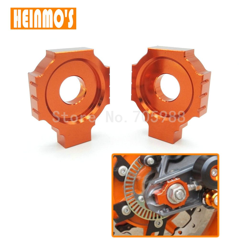 Orange Motorcycle CNC Rear Axle Spindle Chain Adjuster Blocks for KTM DUKE 125/200/390 #Affiliate