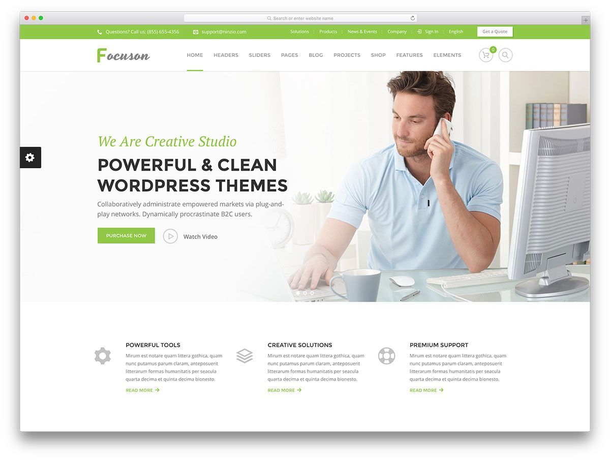 best wordpress corporate business themes colorlib focuson simple
