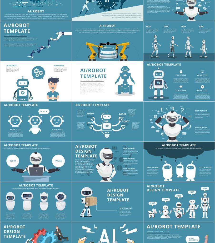 70+ Best AI Infographic PowerPoint templates | Premium