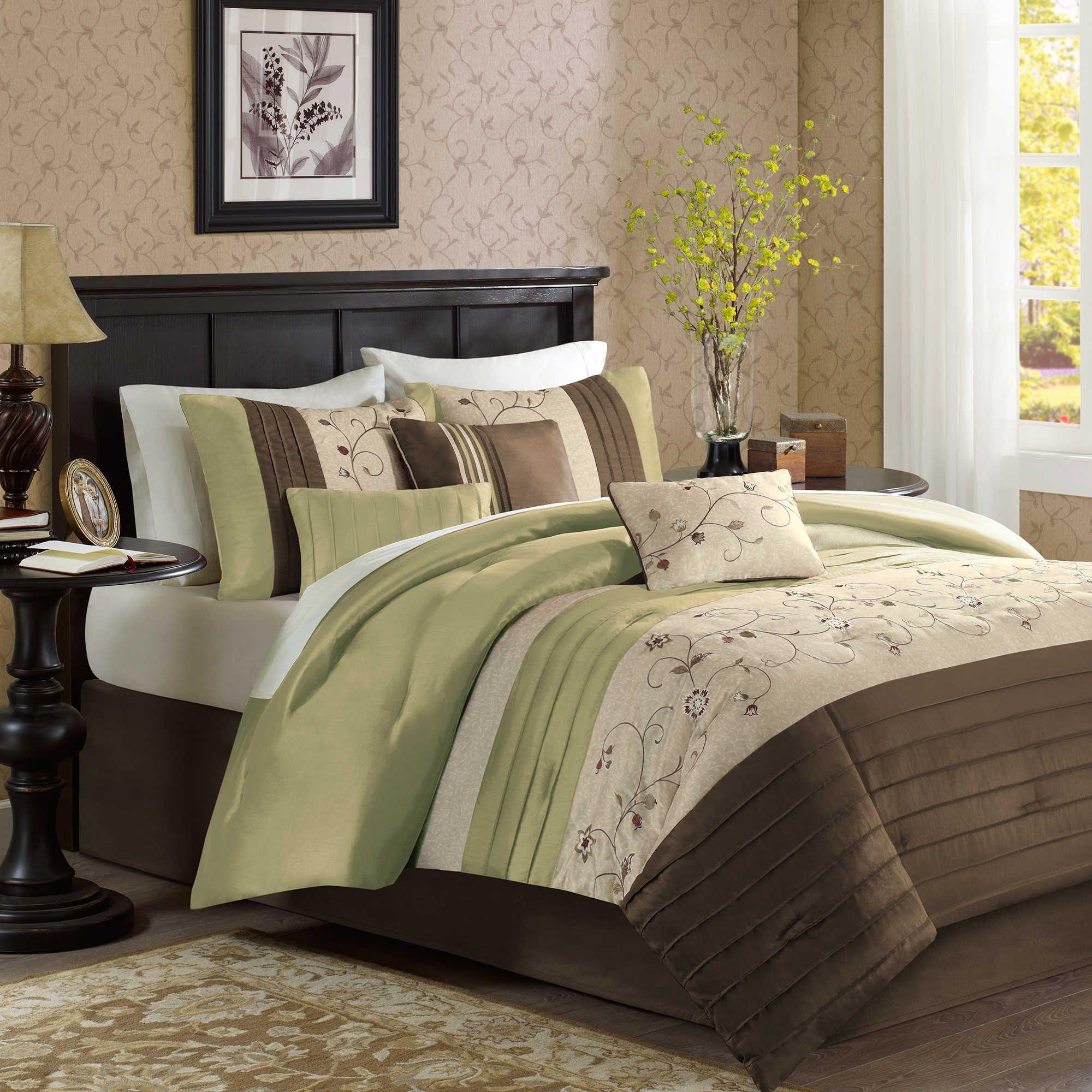 Madison Park Serene 7 Piece Comforter Set Comforter Sets Duvet