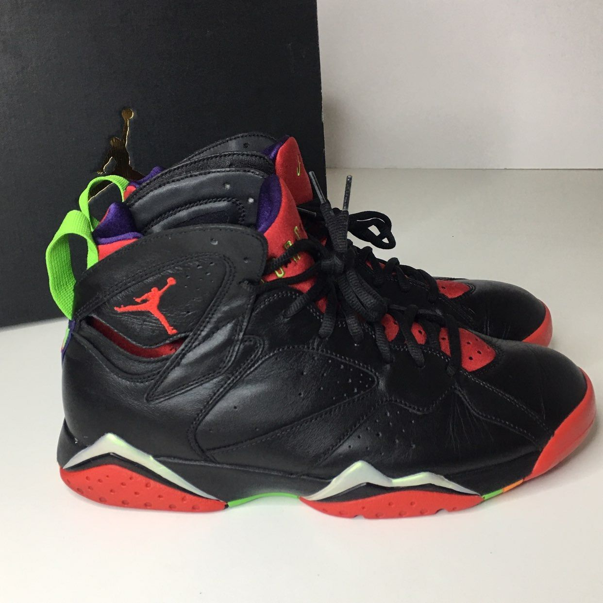 Air Jordan 7 Vii Retro Marvin The Martian Black Colorway With
