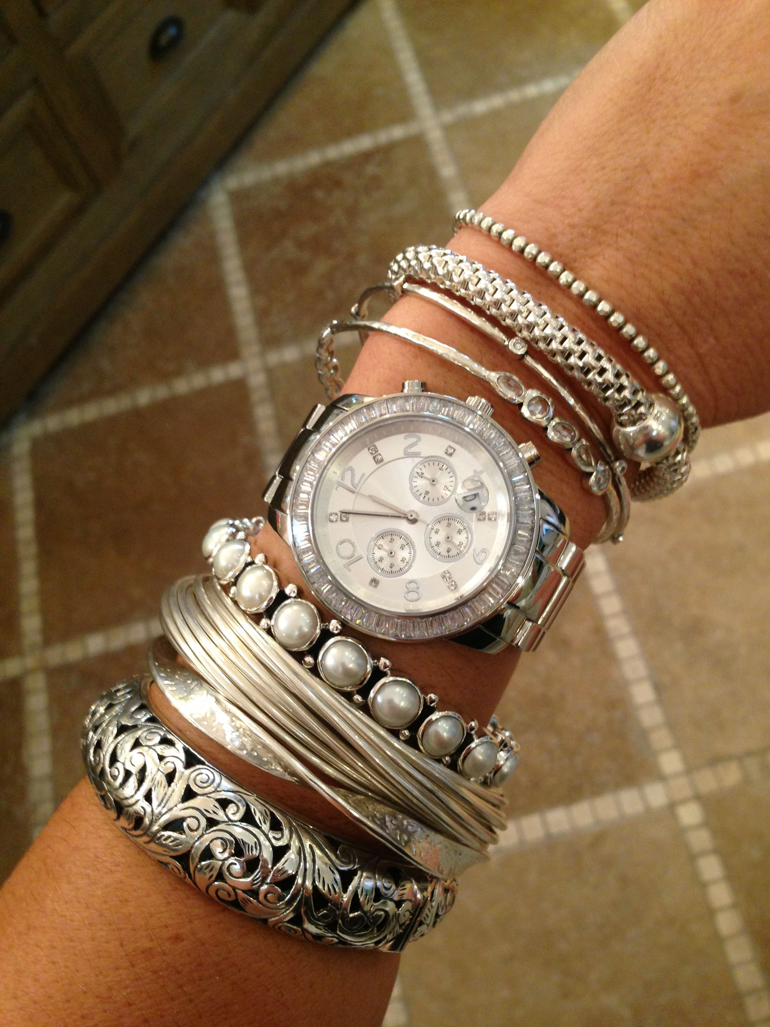 Silpada Armparty Sterling Neverenough Bangles