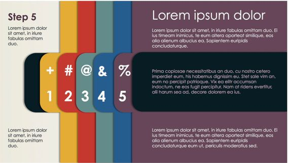 Powerpoint Template with Tabs - Corporate - Modern Look Business