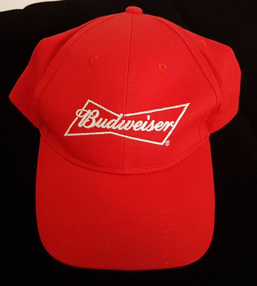 Budweiser Red Baseball Cap. Adjustable Velcro. New without Tags  Budweiser 63674edc024a