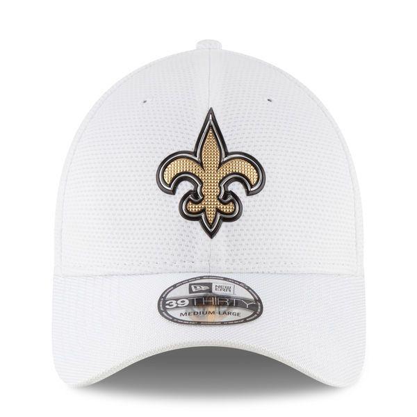 93ea73123 New Orleans Saints New Era Youth Color Rush 39THIRTY Flex Hat - White