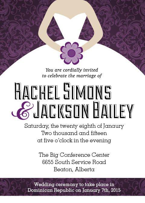 Wedding Reception Invite Reception After Destination Wedding By