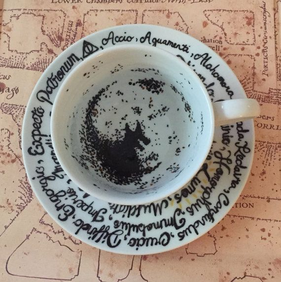 Wizard School Divination Class Inspired The Grim Teacup With Spells Please Take A Look At My Other Variations In My