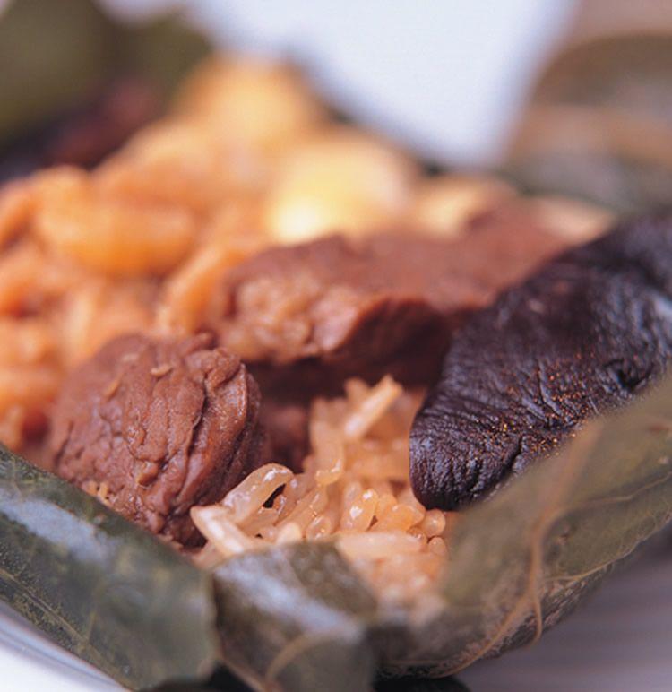 荷葉粽::食譜