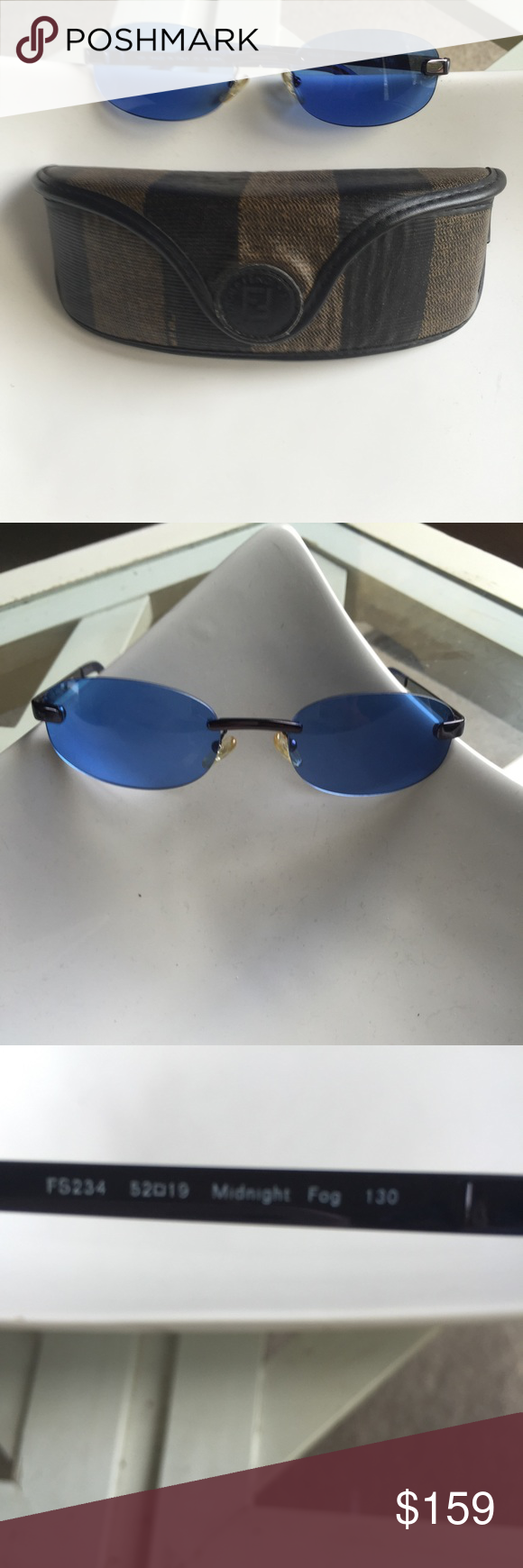 Fendi sunglasses with Fendi case Authentic Fendi sunglasses and case.  Vintage.  Excellent condition.  Sold together. NO TRADES.  Buy 'em today enjoy for years! Fendi Accessories Glasses
